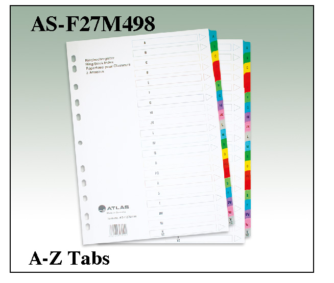 Atlas Divider A to Z Color AS F27M498