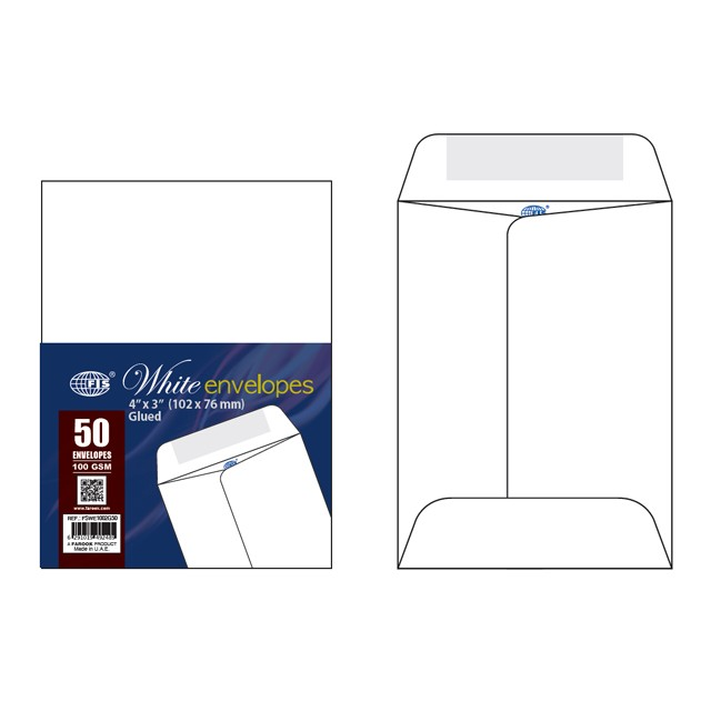 FIS White Envelopes 4x3
