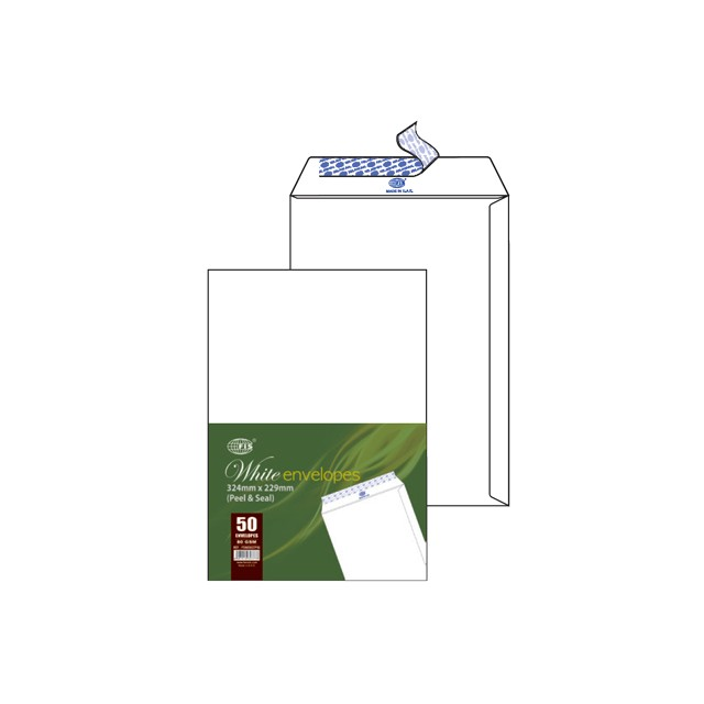 FIS White Envelopes C4 FSWE1027P50