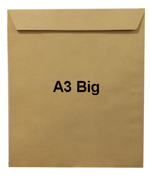 Hispapel Big Size A3 Manila Envelopes 120gsm