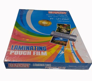 Partner Laminating Pouch A4 125mic
